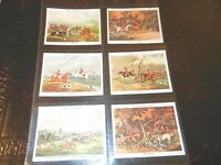 1938 Old Hunting Prints fox hound complete John Player tobacco set 25 cards RARE