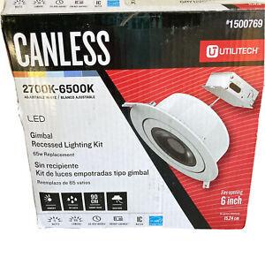 """Utilitech Canless Recessed Light Kit 6"""" 2700k-6500k LED #1500769"""