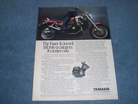 """1986 Yamaha Fazer Vintage Motorcycle Ad """"It Doesn't Fall into a Category"""""""