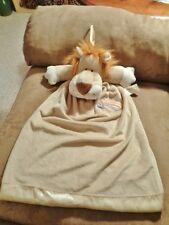 LION Tan PJ Pajama Bag DanDee Baby Lovey Plush Rainbow Heart Security Blanket