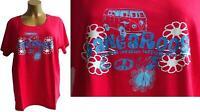 NEU Übergröße Damen Kurzarm Shirt von KangaRoos mit Bulli Motiv in rot Gr.56/58
