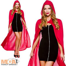 """Cape W/ Hood Red 52"""" 132cm Womens Vampire Costumes for Adult Ladies Dracula up"""