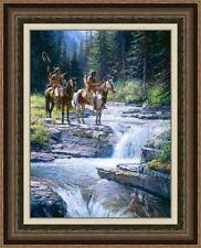 WHEN WATERS SPEAK by Martin GRELLE. SOLD OUT! MAGNIFICENTLY FRAMED, MINT PPR #1