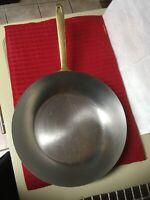 """Paul Revere Copper Pot W/ Brass Handle 10.5"""" Saute Fry Pan Skillet"""