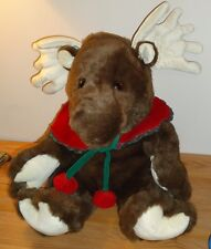 "Christmas Moose large 16"" stuffed plush by Commonwealth"