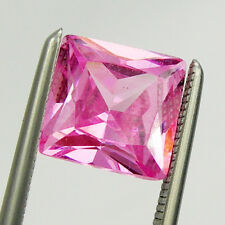 7x7mm Square Princess Cut Pink Color Cubic Zirconia Loose Gemstone
