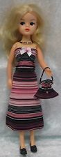 Made to fit SINDY Pedigree #25 Dress, Purse & Necklace,   Handmade doll clothes