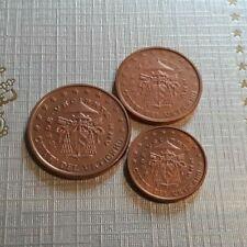 MONNAIE VATICAN EURO BU 2005 SEDE VACANT le trio 1/2/5 cent TRES RARE UNC.A174