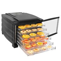 6-Tray Food Dehydrating Racks for Making Beef Jerky, Healthy Snacks Dry Fruit