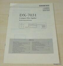 Onkyo DX-7031 Bedienungsanleitung deutschsprachig