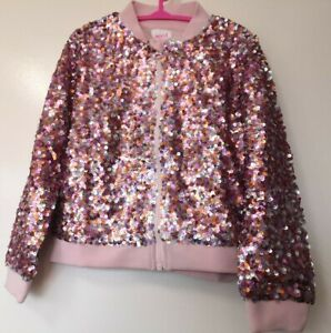 Nwt Seed Size 6 Girls Bomber Jacket Sequin