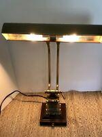 Vintage Gold Ornate CAST IRON Adjust. Table Task Bent DESK LAMP