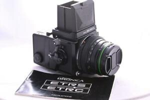 BRONICA ETRS c/w PE 75mm F2.8 WLF 120 back GREAT CONDITION