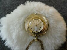 Vintage Swiss Made Sheffield  Wind Up Pendant Necklace Watch