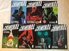 CRIMINAL (2019)- TEN (10) ISSUE LOT- #1, 2, 4, 5, 7, 8, 9, 10, 11 & 12 -Brubaker