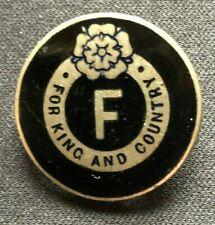 RARE 1930'S BRITISH FASCIST BADGE - 100% ORIGINAL GUARANTEED !!!