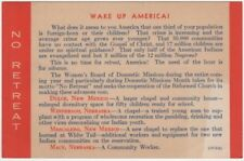 Reformed Church Women's Board of Domestic Missions ca 1940's Wake Up America