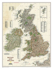National Geographic - Map of Britain & Ireland Executive Style Poster, 24x30
