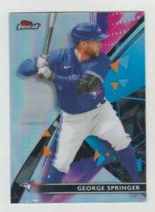 George Springer 2021 TOPPS FINEST SILVER REFRACTOR CARD #17 TORONTO BLUE JAYS