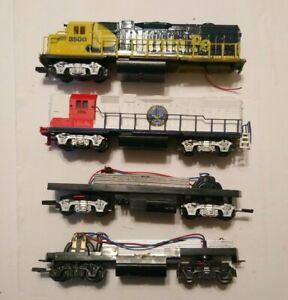 Life Like HO Train Lot 4 Diesel Locomotives For Parts/Repair C-1