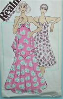 Vintage 1970s Woman's Realm DRESS sewing pattern WR 415 12 UNCUT handkerchief