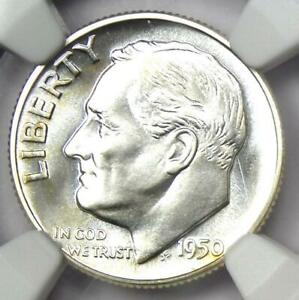 1950 PROOF Roosevelt Dime 10C Coin - Certified NGC PR68 (PF68) - $275 Value!