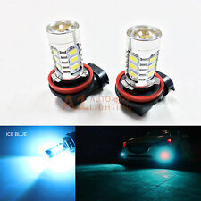 2x Ice Blue H11 H8 15w High Power Bright Car LED Bulbs 5730 15-SMD Fog Light