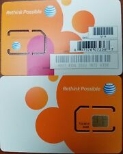 AT&T SIM CARD 4G LTE GO PHONE SIM CARD READY ACTIVATE STANDARD SIZE