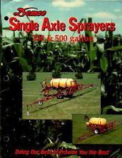 Vintage brochure Farm Machinery Demco Single Axle Sprayers 300 & 500 Gallon