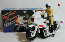 B/O Vtg 80's Highway Patrol 10'' Motorcycle w/ Rider Electronic Unused Mip Works