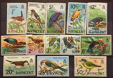1970 ST. VINCENT Birds  MNH & 1 used partial set  Scott # 279-291