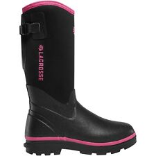 "LACROSSE RUBBER WOMEN'S 12"" ALPHA RANGE BLACK/PINK 5MM - Size 5"