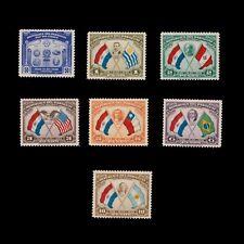 PARAGUAY STAMP SET 1939. SCOTT # 355 - 361. UNUSED