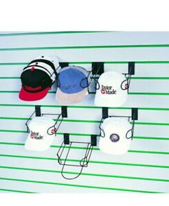 SLATWALL FITTINGS BASEBALL CAP HAT DISPLAY SHOP RETAIL FASHION HOOK FOR 10 CAPS!