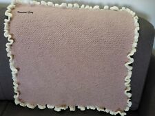 Copertina neonato rosa  fatta a mano per carrozzina o culla misto alpaca morbida