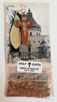 Earth Soil from Jerusalem Jesus Cross Crucifix Olive Leaf Certificate Holy Land