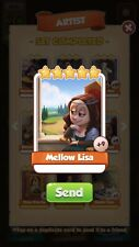 25x Mellow Lisa Coin Master Cards  ( Fastest Delivery)