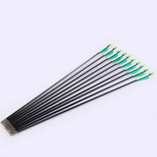 12 pcs arrow retro arch 500 spine 20-50 pounds outdoor hunting bow
