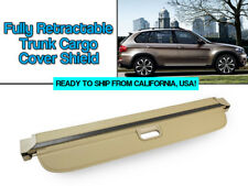 07-13 BMW E70 X5 Fully Retractable BEIGE Trunk Cargo Cover Shield Luggage Cover