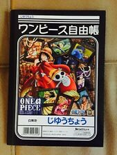 One Piece ANIME  From Manga- Blank Pages Notebook Black