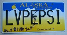 "ALASKA  VANITY LICENSE PLATE "" LV PEPSI "" LOVE SOFT DRINK COLA"