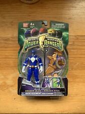 Mighty Morphin Power Rangers Blue w Light Up Dino Flyer 2010 Factory Sealed
