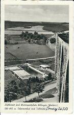 """Ansichtskarte Willingen / Waldeck - """"Schwimmbad und Talbrücke"""" - schwarz/weiß"""