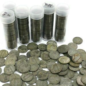 4 Rolls SILVER 35% WAR NICKELS - 160 US Nickels