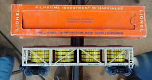 Original Lionel Freight Car 6475 Pickle Vat Flat With OB