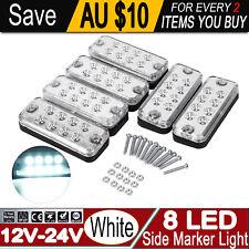 6X 12V 24V 8-LED Oblong Side Marker Lights Car Caravan Clearance Indicator Lamp