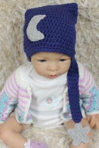 Knit Crochet Newborn Infant Baby Child Kids Moon Star Hat Cap Baby Shower Gift