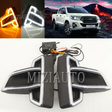 DRL LED For Toyota Hilux Revo Rocco 18-19 Daytime Running Light Kit Fog Lamp L+R