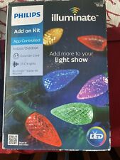 Brand New Philips ADD ON KIT Illuminate LED Lights 25 C9 w/ extender APP control