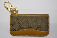 7e1571477bd7 RARE Vintage GUCCI Tan /Brown Leather GG Supreme Zip Change / Card Wallet  Unisex